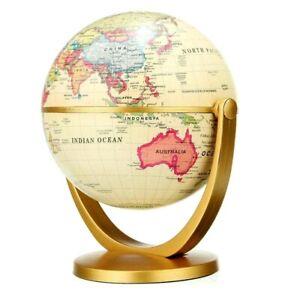 Retro Globe 360 Rotating Earth World Ocean Map Ball Antique Desktop Decoration