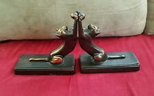 Cast Iron Cat Bookends -rare- Check my pictures