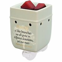 Family Tree Ceramic Stoneware Electric Plug-in Outlet Wax and Oil Warmer