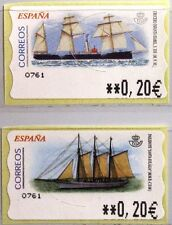 SPAIN SPANIEN 2002 ATM 83-84 Sailing Ships Segelschiffe Schiffe MNH