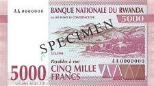 Rwanda 5000 Francs 1994 Unc pn 25s Specimen