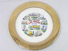 "The Fabulous Las Vegas Strip~Vintage Collectible 10"" Plate~Gold Border"