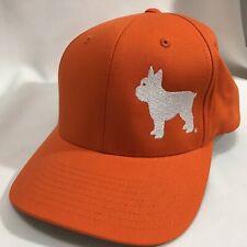 French Bull Dog Boston Terrier Orange Port Authority Flex Fit L XL Cap Hat