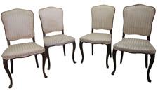 Gruppo di quattro sedie stile Luigi XV in noce - barocchetto rococò - primi 900