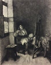 Ernest Meissonier portrait de Rembrandt gravé Fabien Henri ALASONIERE 1893