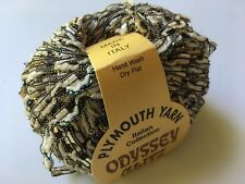 Plymouth Odyssey Glitz #900 Champagne Beige Wool Metallic Ladder Ribbon Yarn 50g