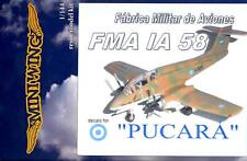 MiniWing Models 1/144 Fma Ia 58 Pucara Argentine Ground Attack Aircraft