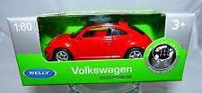 Welly Volkswagen VW Nuevo Beetle rojo en 1:60 nuevo & OVP