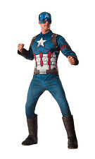 Adult Deluxe Captain America Costume Avengers Superhero Cosplay Size XLarge