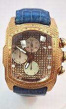 W430- Aqua Master Rose Gold Rectangular Bubble Loop Genuine Diamond/MOP Watch