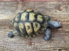 Cold Painted Bronze Tortoise