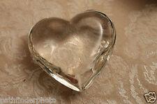 Heart Shaped Box W/ 3D CLEAR GLASS HEART & HANDMADE LACE