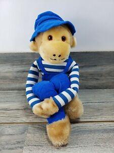 "Commonwealth Knee Hugger Monkey Blue Overalls Plush McCrory York PA 24"" Vintage"