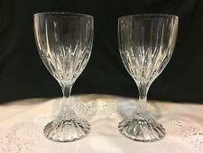 2 Mikasa Crystal Park Lane Water Glass Made in Germany