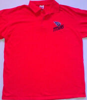 Tennessee Titans Polo Shirt 90s Mens SZ M/L Short Red NFL Football AFC USA Made