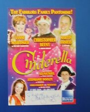THEATRE FLYER CINDERELLA SIGNED BY LYNNE McGRANGER [ HOME AND AWAY ]