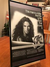 "BIG 11X17 FRAMED TED NUGENT ""WEEKEND WARRIORS"" LP ALBUM CD PROMO AD + 2 FREE!"