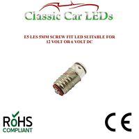 10x 6V E5 LES LED Miniature Filament Replacement Screw Dolls House Light Bulbs
