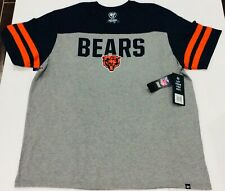 Chicago Bears 47 Brand Men's Versus Club Tri Colored Tee NWT 2XL Gray Very Soft