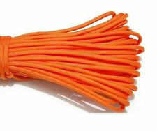25FT/8m Mil Type III Stand 7 Cores 550 Paracord Parachute Cord Lanyard Orange #5