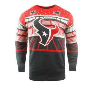 Houston Texans NFL Stadium Light Up Ugly Sweater Holiday Party Mens XXL NWT