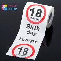 HAPPY BIRTHDAY 18 UND SEXY TOILETTENPAPER ROLL LUSTIG NEUHEIT GESCHENK IDEE