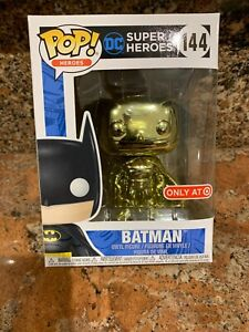 Funko Pop!  DC Heroes:  Batman #144 (Gold Chrome)  Target Exclusive!