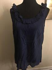 Gap Women's Blouse Sleeveless Navy Size XL