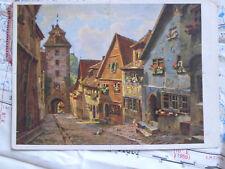 Rothenburg Kobolzellertor Stadt Dorf Gemälde Kunst Postkarte Ansichtskarte 3494