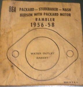 McCORDThermostat Gasket 86A; fits1956-58 Packard; STUDEBAKER; NASH; Hudson etc