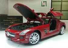 Coches, camiones y furgonetas de automodelismo y aeromodelismo WELLY color principal rojo Mercedes