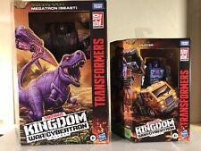 Lot (2) Hasbro Transformers WFC Kingdom Megatron Beast 7.5 and Huffer
