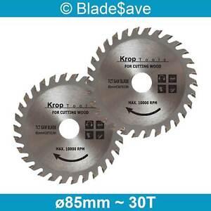 Mac Allister Circular Saw Blade Fine Cut TCT 85mm x 15mm x 30T by KROP (2 Pack)