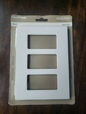 Lutron Claro White Gloss Finish Switch Plate CW-3B-WH Gang Invisible Screws