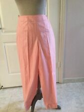 Liz Claiborne Sport Pink Ankle Cotton Pants Side Zipper Size 12P *NWT*