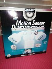 New 240 Degree Double Motion Sensor Security Light Heath Zenith Sl-5597 white