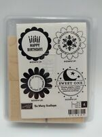 Stampin Up Unmounted So Many Scallops Birthday Baby So Sweet Snowflake Stamps