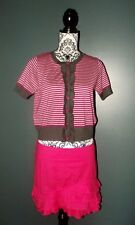 NEW LOOK CARDIGAN PULL COLLERETTES BAYADERE PREPPY T UK 14 OU 42/44