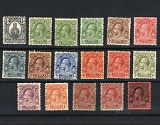 TURKS & CAICOS ISLANDS 1922 SET OF MINT STAMPS INCLUDING VARIETIES TO 3/- (17)