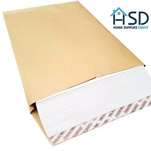 C4 25mm Gusset Envelopes Strong Brown Manilla A4 120gsm Thick Expanding Width