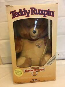Teddy Ruxpin Doll 1985 Vintage Worlds Of Wonder