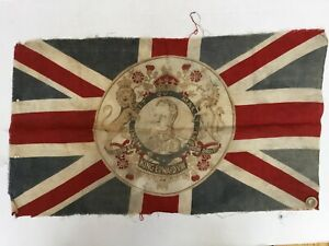 "King Edward VIII 24"" Commemorative Union Jack Banner Coronation Flag, Royal Arms"