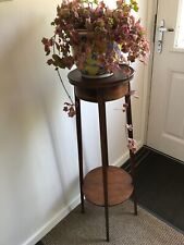 More details for edwardian mahogany inlaid plant stand