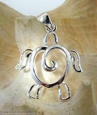 25mm Silver Hawaiian Petroglyph Honu Curl Shell Pendant