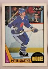 1987-88 O-Pee-Chee PETER STASTNY Quebec Nordiques #21 Hockey Card MINT