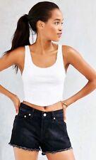 Levi's Vintage Cut Off Denim Jean Shorts 29 30 Black