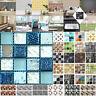 6/20pcs Mosaico Azulejo Adhesivo Pared PVC Impermeable Cocina Hogar Decoración