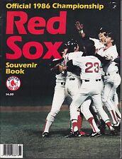 Boston Red Sox Official 1986 Championship Souvenir Book