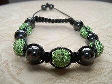 Bracelet Shamballa - Perles de Cristal vert