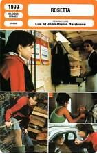 FICHE CINEMA : ROSETTA - Dequenne,Rongione,Gourmet,Dardenne 1999